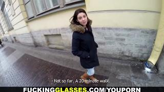 Русское порно: Fucking Glasses Local cutie guides to orgasm